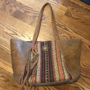 Leather purse BOHO 🤠
